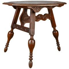 Antique Folding Table, Dutch, Friesland, Oak, Ships, Tavern, Campaign circa 1880