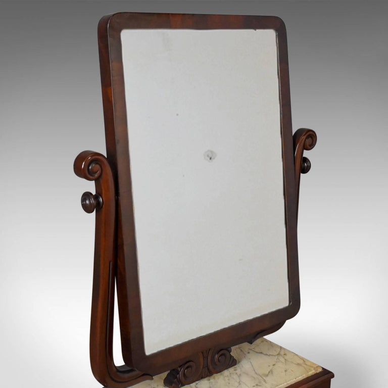 19th Century Large Antique Vanity Mirror, English, Victorian Marble, circa 1850 For Sale