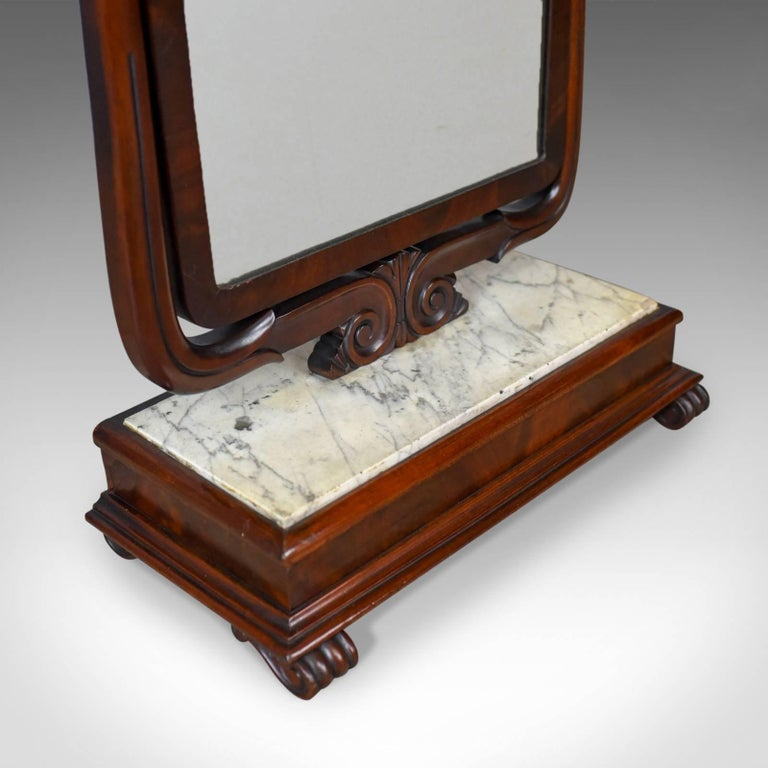 Large Antique Vanity Mirror, English, Victorian Marble, circa 1850 For Sale 3