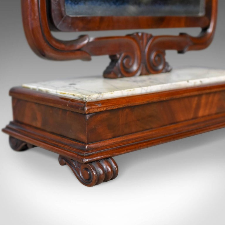 Large Antique Vanity Mirror, English, Victorian Marble, circa 1850 For Sale 4