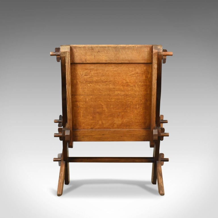 Antique Glastonbury Chair, English, Tudor Revival, Hall Seat, circa 1900 In Good Condition For Sale In Taunton, GB