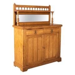 Antike Chiffonier Sideboard, Englisch, Eiche, Buffet oder Schrank um 1880