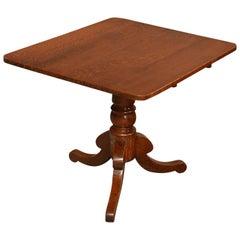 Antique Tripod Table Lamp Display Card Tilt-Top English Oak, circa 1850