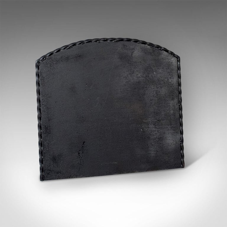 Early 20th Century Large Antique Cast Iron Fire Back, Heavy Fire Plate, Fireplace, circa 1900 For Sale