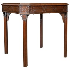 Antique Games Table, English, Georgian, Mahogany, Card, Oriental, circa 1800