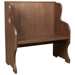 Antique 19th Century Bench or Pew, English, circa 1890