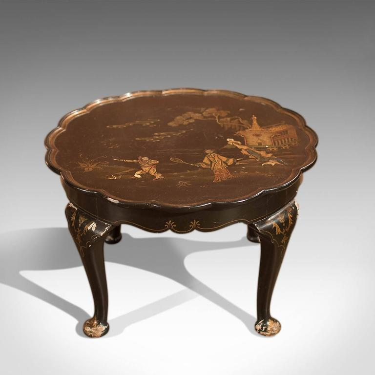 Old Charm Coffee Tables Ebay: Antique Lacquered Pie Crust Tea Table, Circa 1900 For Sale