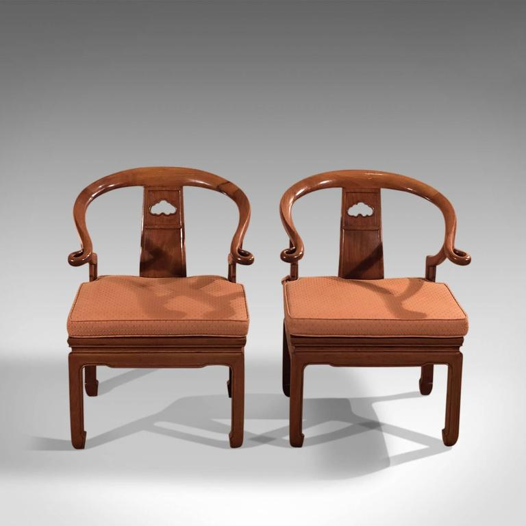 Pair of chinese chairs mid 20th century george zee and co for Mid 20th century furniture