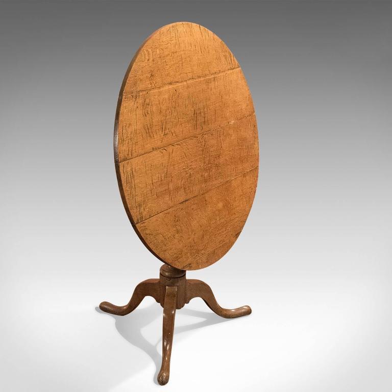 Amazing 18th Century Antique Tilt Top Table, Georgian Oak, Circa 1750 3
