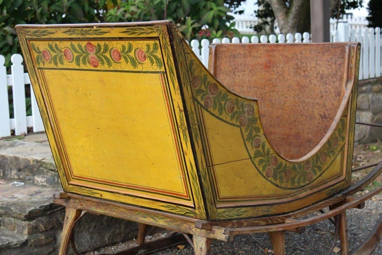 how to build a frame around a bathroom mirror pennsylvania paint decorated sleigh for at 1stdibs 26483