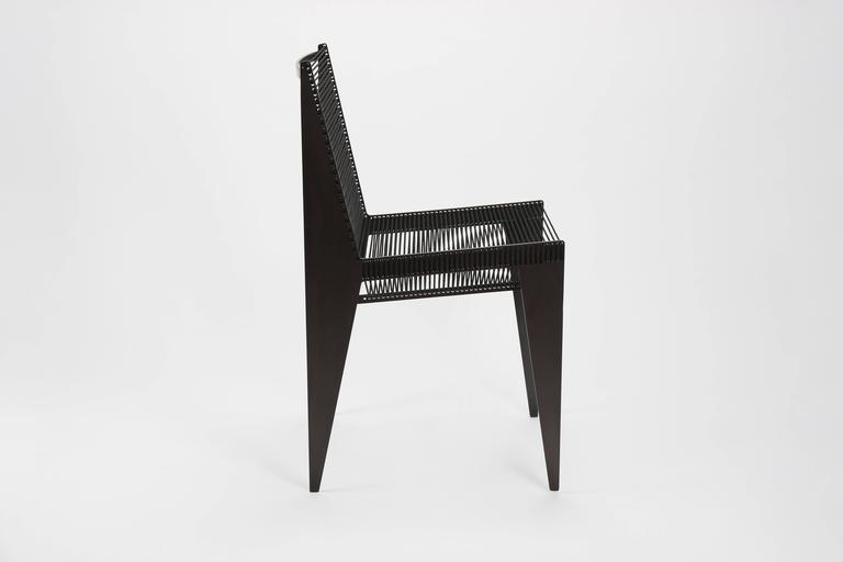Mid-Century Modern ICON Chair in steel & rope by Christopher Kreiling Studio *New Lower Price  For Sale