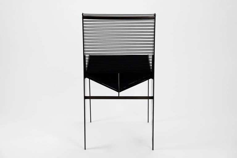 American ICON Chair in steel & rope by Christopher Kreiling Studio *New Lower Price  For Sale