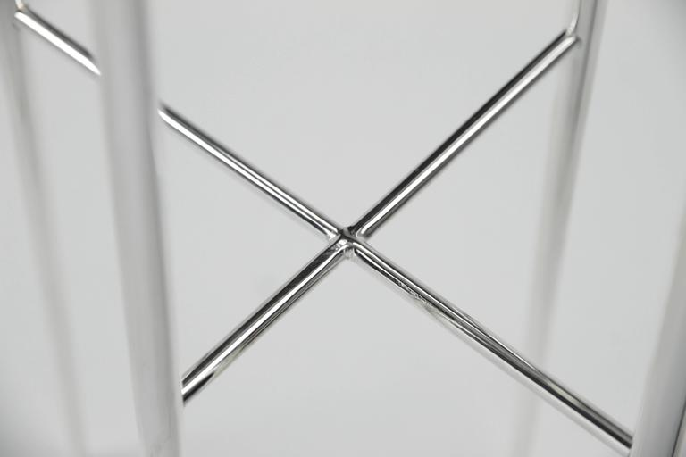 Meteorite Cocktail Tables in Silver Plated Brass by Christopher Kreiling For Sale 4