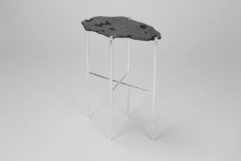 Meteorite Cocktail Tables in Silver Plated Brass by Christopher Kreiling For Sale 2