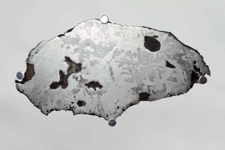 Meteorite Cocktail Tables in Silver Plated Brass by Christopher Kreiling For Sale 3