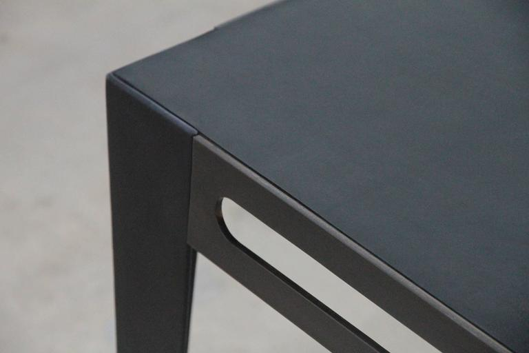 American  ICON Table in patinated steel & leather, 2020 by Christopher Kreiling Studio For Sale