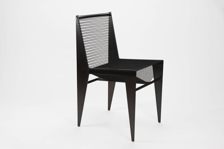 The ICON Chair will add an architectural moment to any room. From all angles the silhouette offers a different set of lines sculpting space and light.  It has a nice weight and works a side or dining chair - indoor or outdoor.  The hand crafted