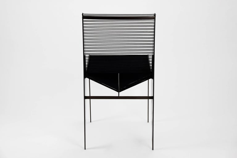 American Set of Six Icon Chairs in Steel and Rope by Christopher Kreiling, Contemporary For Sale