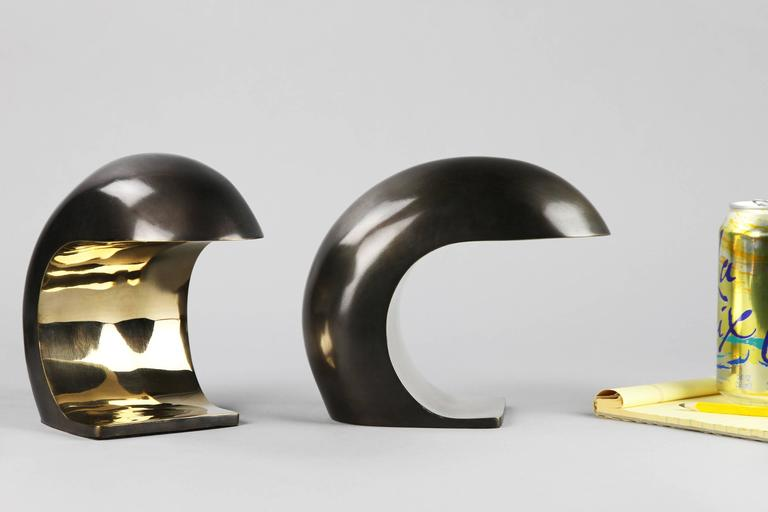 Polished Nautilus Desk Lamp in Bronze by Christopher Kreiling For Sale