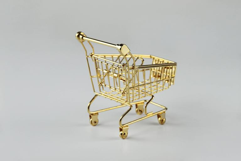 American Empire The 14K Gold Cart by Christopher Kreiling For Sale