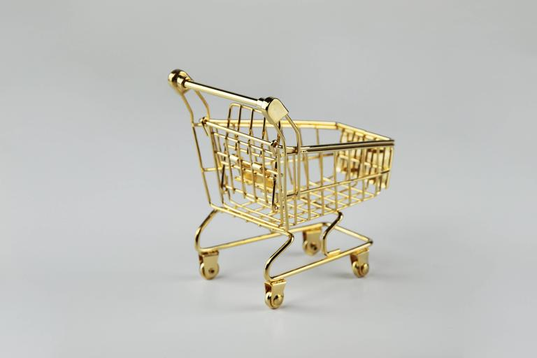 American The 14K Gold Cart by Christopher Kreiling For Sale