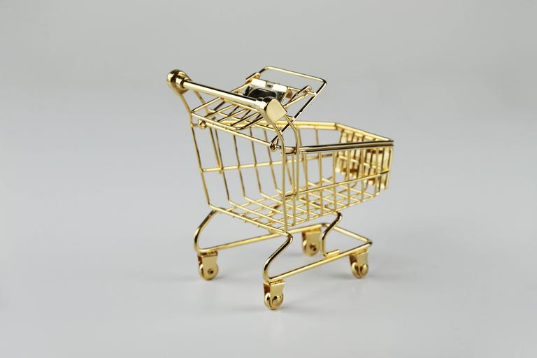 Hand-Crafted The 14K Gold Cart by Christopher Kreiling For Sale
