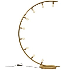 Crescent Moon Floor Lamp in Bronze by Christopher Kreiling