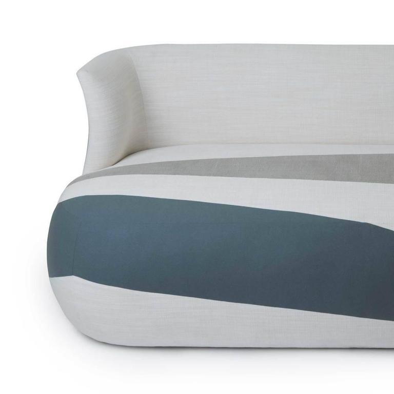 Modern Isadora Blocked Sofa For Sale