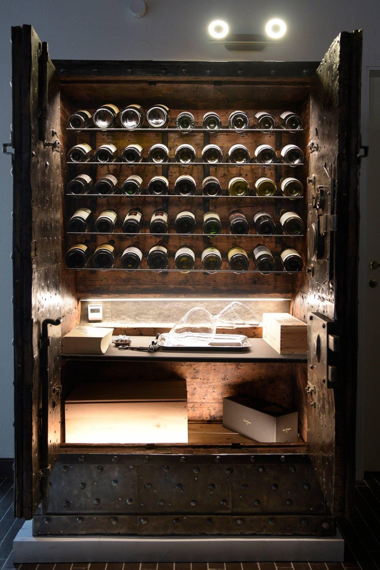 Wine Cabinet In 18th Century Italian Antique Hobnail Safe