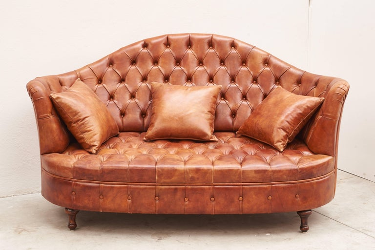 20th Century Leather Chesterfield Sofa For Sale