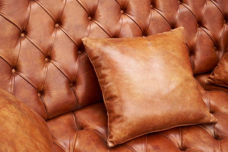 Italian Leather Chesterfield Sofa For Sale