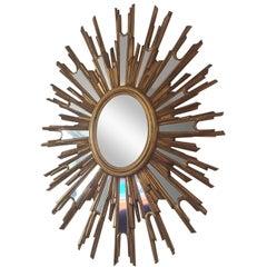 French Extra Large Sunburst Mirror