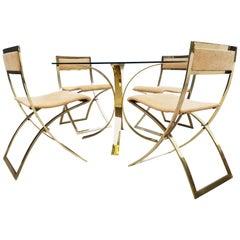 Brass Dinning Set Marcello Cuneo Chairs Vs Osvaldo Borsani Table
