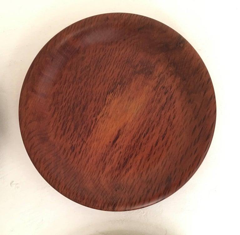 Six Vintage Hand Turned Australian She Oak Timber Dinner