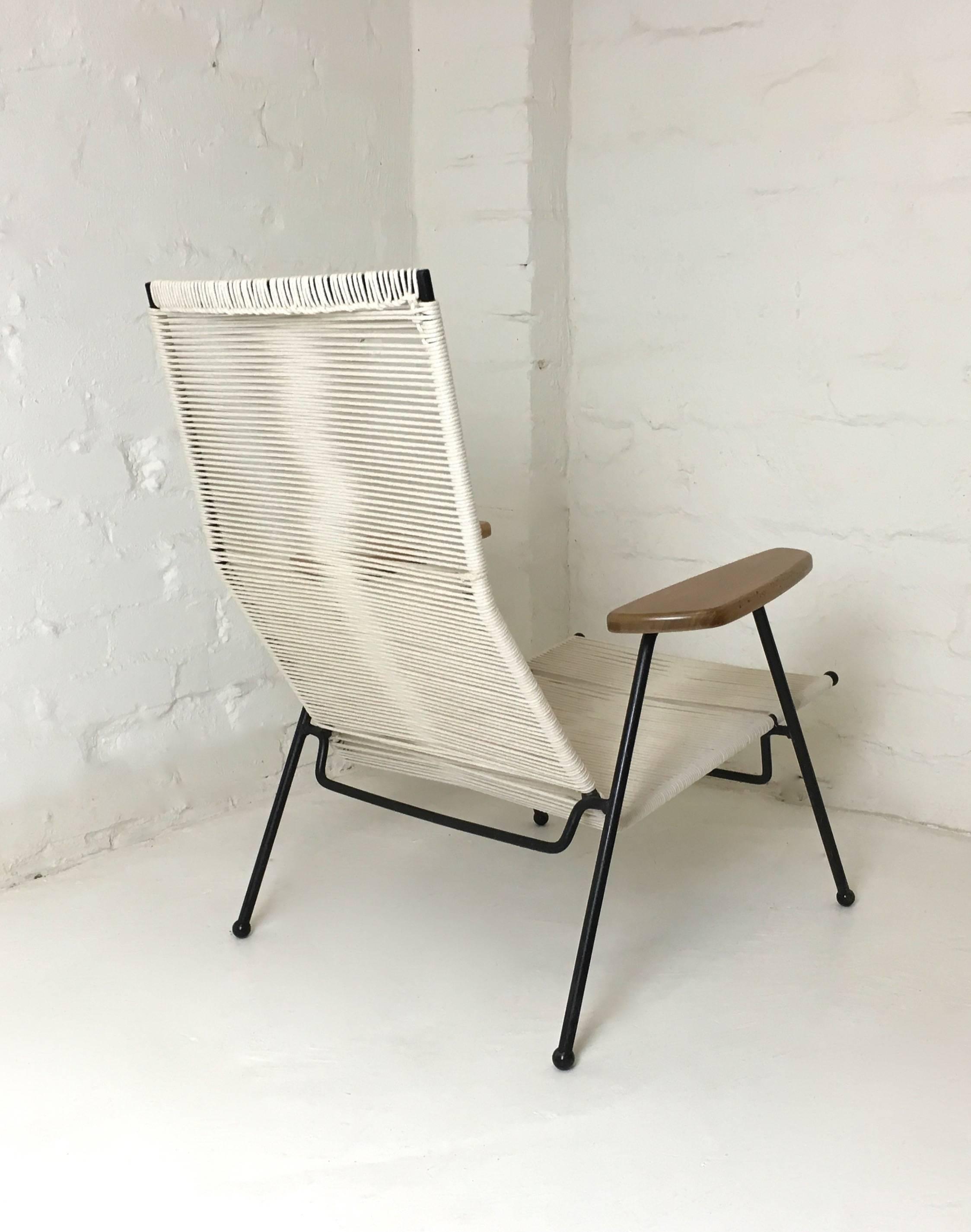Mid Century Modern Calypso String Chair By Bernard Goss For Pandar,  Melbourne, 1956