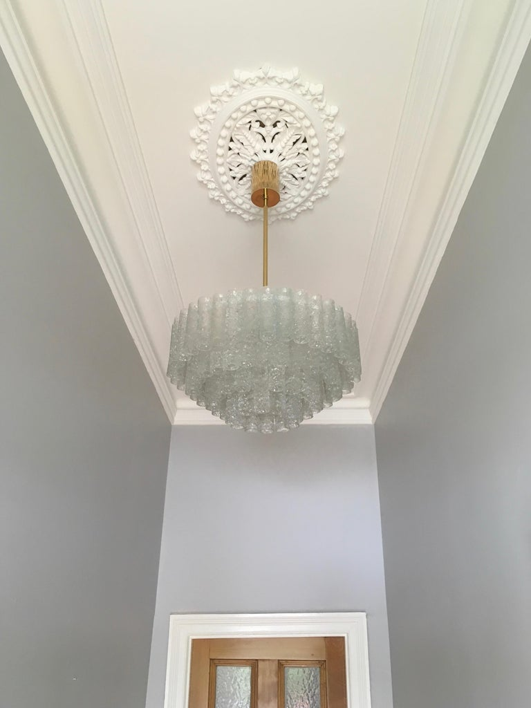 Mid-Century Modern Large Four-Tier Chandelier by Doria of Germany, 1960s For Sale
