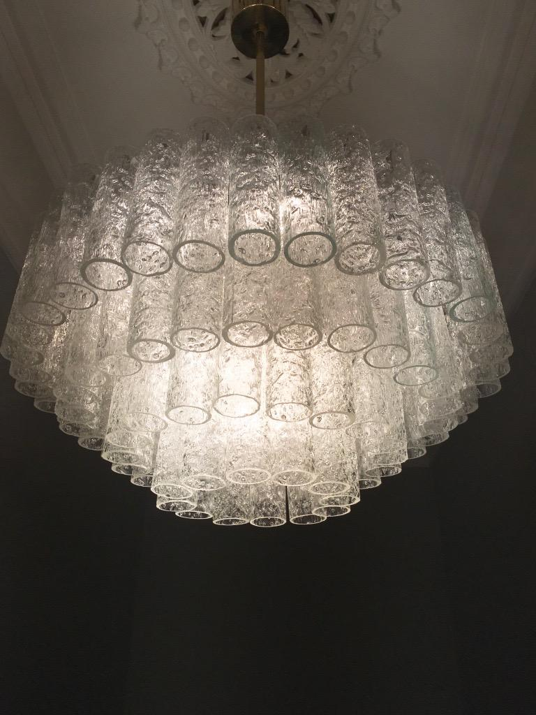 Mid-20th Century Large Four-Tier Chandelier by Doria of Germany, 1960s For Sale