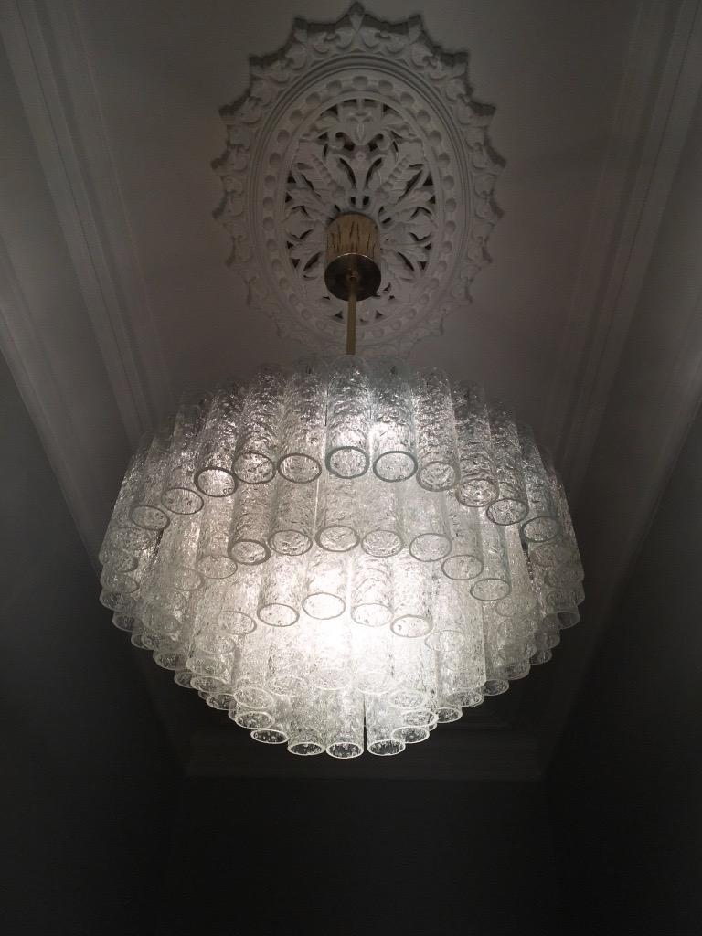Large Four-Tier Chandelier by Doria of Germany, 1960s For Sale 8