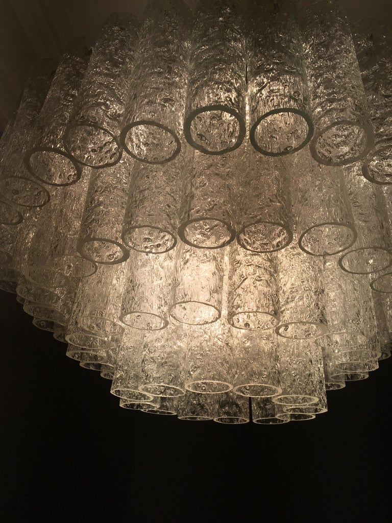 Large Four-Tier Chandelier by Doria of Germany, 1960s For Sale 1