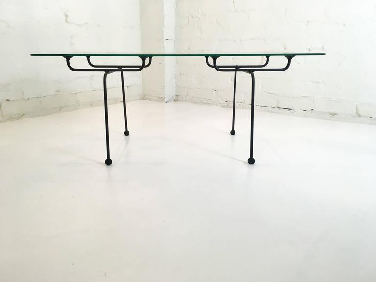 Clement Meadmore Steel Rod And Glass Coffee Table Melbourne Circa 1952 For Sale At 1stdibs