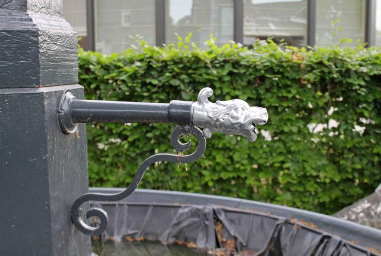19th Century Old Cast Iron Fountain Edge For Sale