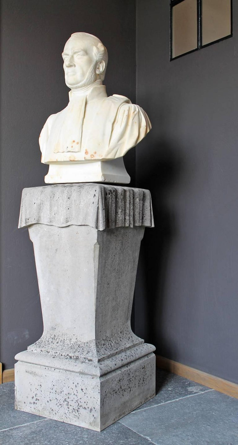 Marble Head-Statue, 19th Century For Sale 1