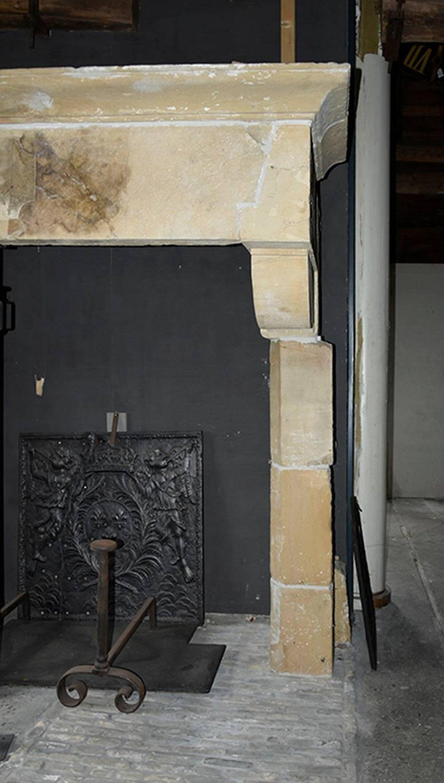 Original Antique Sandstone Castle Fireplace Mantel 18Th Century For Sale