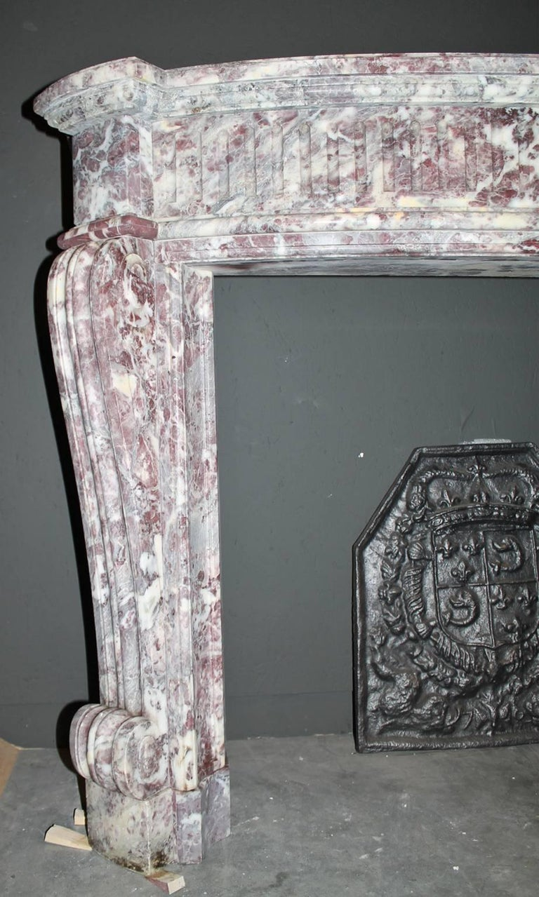 Antique Marble Fireplace Mantel From The 19th Century For Sale At 1stdibs