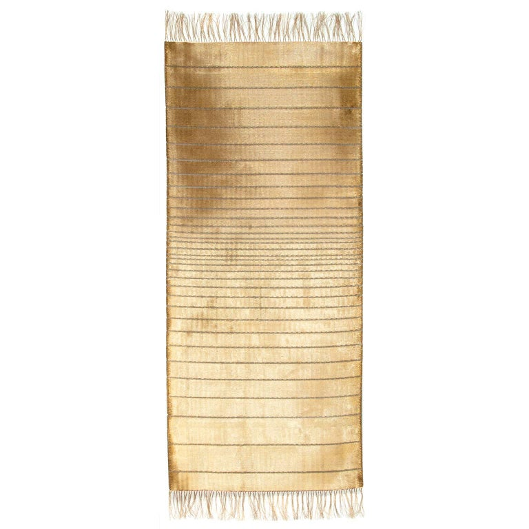 Spectrum 17, Unique Handwoven Art Textile of Jewelry-Grade Brass