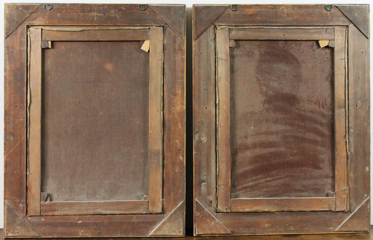 Pair of 19th Century Oil on Canvas Portraits For Sale 1
