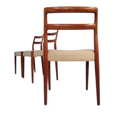 Danish Dining Chairs by Johannes Andersen, 1960s, Set of Three