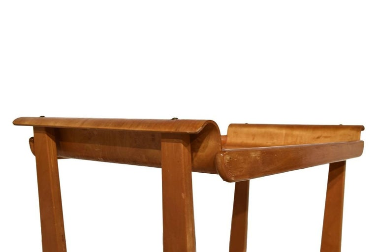 Dutch Midcentury Plywood Trolley by Cees Braakman for Pastoe, Netherlands, 1950 For Sale