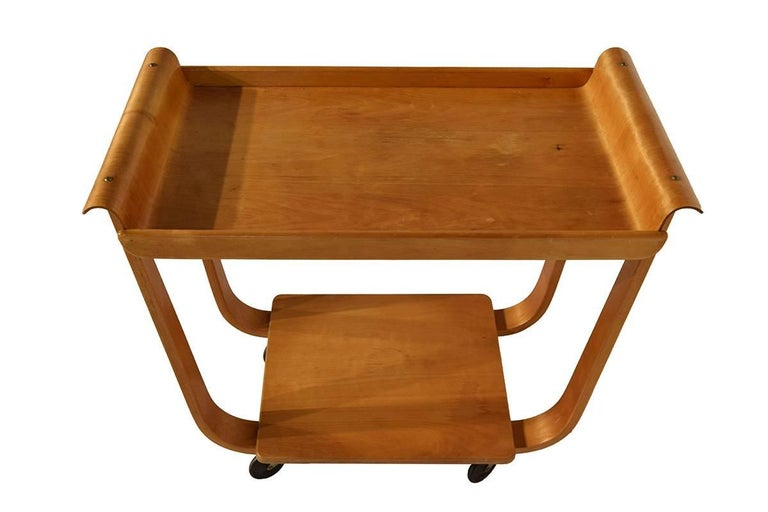Midcentury Plywood Trolley by Cees Braakman for Pastoe, Netherlands, 1950 For Sale 1