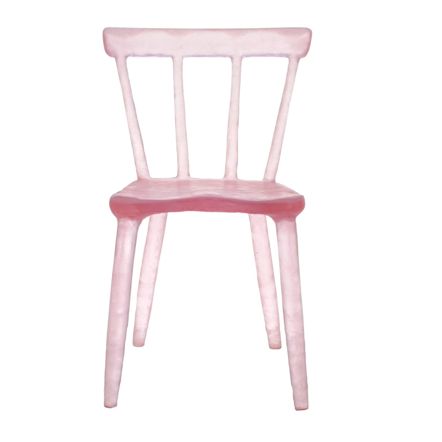 Glow Chair by Kim Markel in Pink Handmade from Cast Recycled